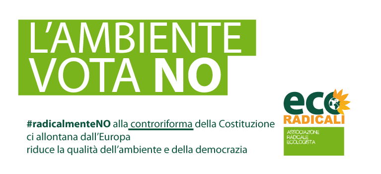 Referendum costituzionale: l'ambiente vota NO!